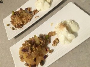 Apple Nut Crumble