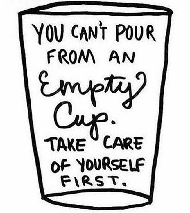 You can not pour from an empty cup!